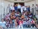 Visite de Félix Savon aux enfants désfavorises-association-Les petits coeurs de cuba