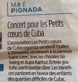 sud ouest concert