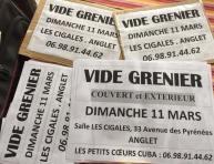 Vide grenier salle les cigales asso les petits coeurs de cuba 11 mars 2018
