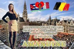 LA FAMILLE DE L'ASSOCIATION S'AGRANDIT !! AMANDINE, notre représentante et coordinatrice des PETITS CŒURS DE CUBA à BRUXELLES(BELGIQUE)