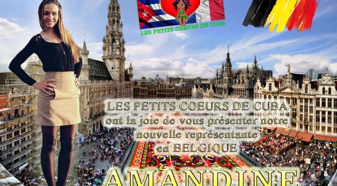 LA FAMILLE DE L'ASSOCIATION S'AGRANDIT !! AMANDINE, notre représentante et coordinatrice des PETITS CŒURS DE CUBA à BRUXELLES (BELGIQUE)