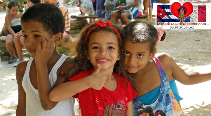 VIDEO DE LA DONATION ET GOÛTER DE L'ASSOCIATION DES PETITS CŒURS DE CUBA, novembre 2018.