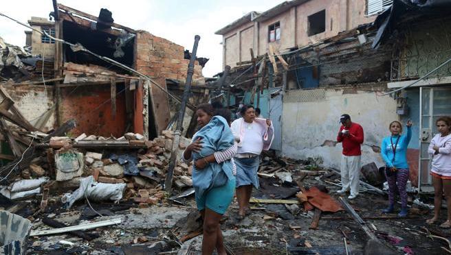 Aide à la Havane aux victimes de la tornade