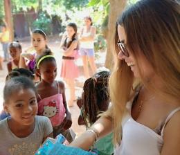 NOS AMIS DE L'ASSOCIATION «PENS OF CHILDREN» RÉPONDENT PRESENT SUITE AUX RAVAGES DE LA TORNADE A CUBA ET PARTICIPENT AU GOUTER/DONATION DE NOTRE CENTRE D'ACCUEIL.