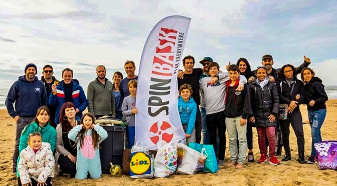 PARTICIPATION AU PREMIER NETTOYAGE DE PLAGE « SPINBASK » DE L'ASSOCIATION.