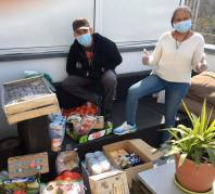 Aides alimentaire coronavirus association labo du pizzaiolo petits coeurs de Cuba centre misericorde 14