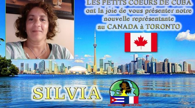 SILVIA, NOTRE REPRÉSENTANTE ET COORDINATRICE DES PETITS CŒURS DE CUBA A TORONTO, AU CANADA.